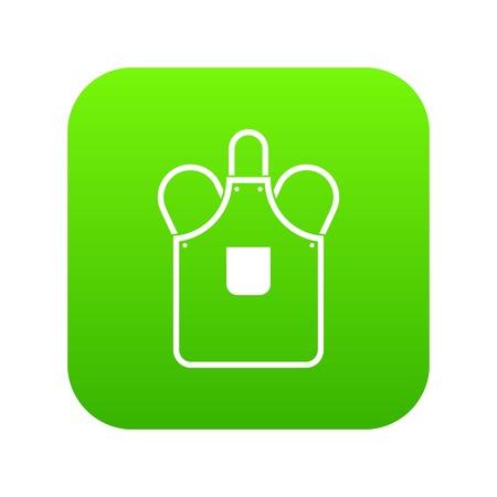 Blacksmiths apron icon digital green