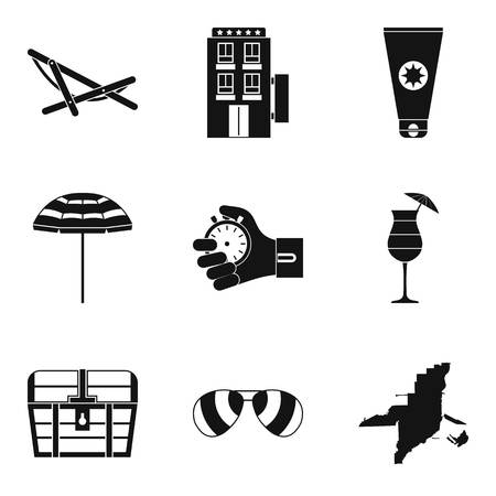 Sport approach icons set, simple style Иллюстрация