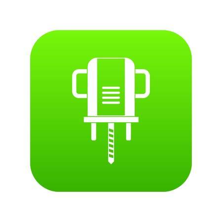 Boer drill icon digital green vector illustration.