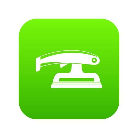 Fret saw icon digital green Stock Illustratie