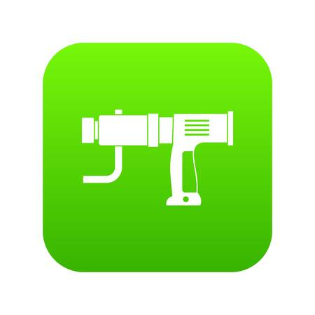 Hand drill icon digital green Vectores