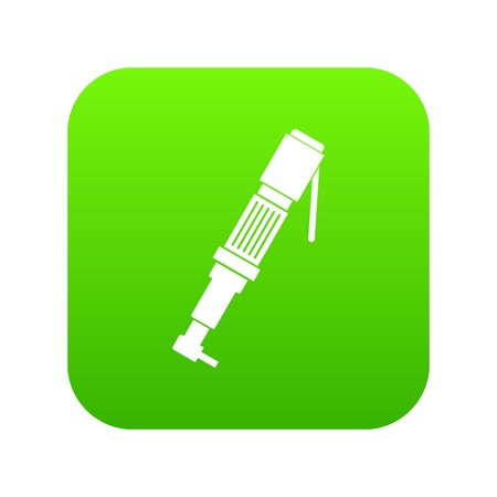 Pneumatic screwdriver icon digital green for any design isolated on white vector illustration