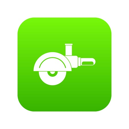 High speed cut off machine icon digital green