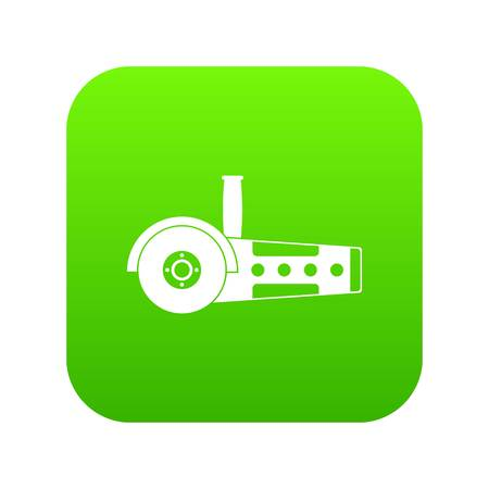 Circular saw icon digital green for any design isolated on white vector illustration Illustration