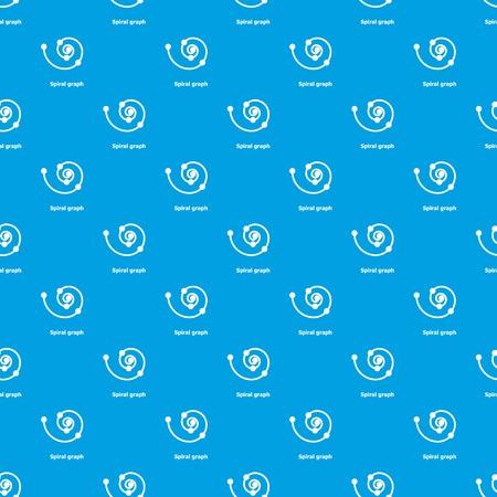 Spiral graph pattern vector seamless blue