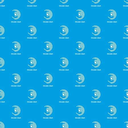 Circular chart pattern vector seamless on blue background. Vettoriali