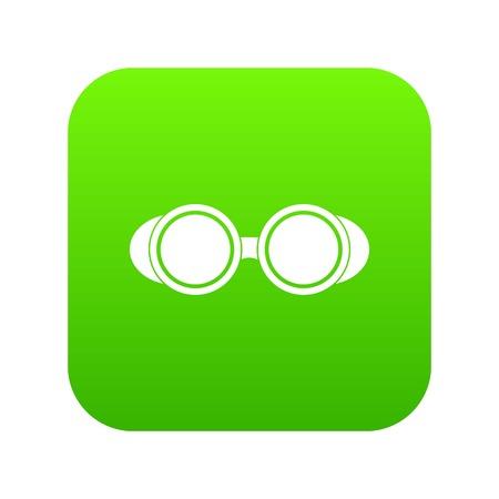 Welding glasses icon digital in green square illustration.