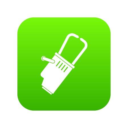 Welding equipment icon digital green for any design isolated on white vector illustration