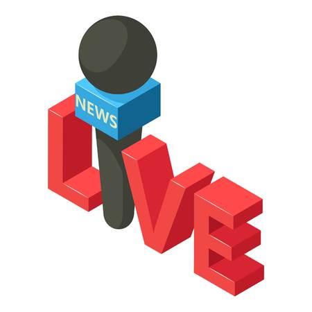 Important news icon. Isometric illustration of important news vector icon for web Illustration
