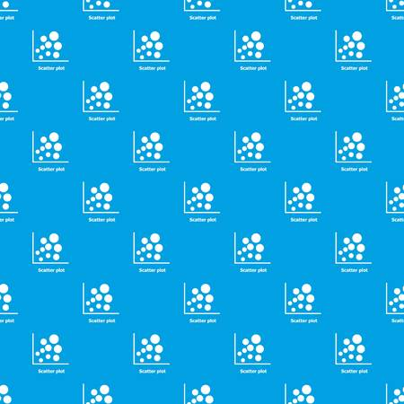 Scatter plot pattern vector seamless blue repeat for any use