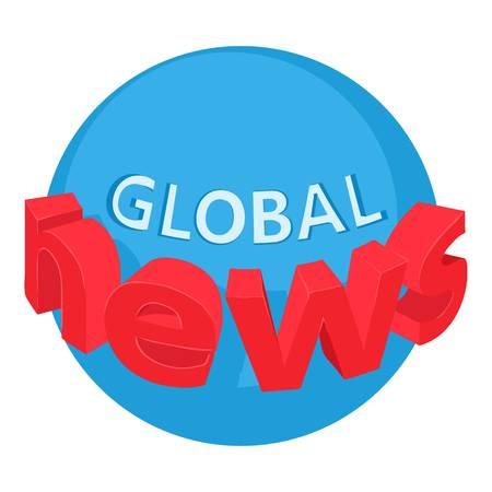 World news icon. Isometric illustration of world news vector icon for web Illustration