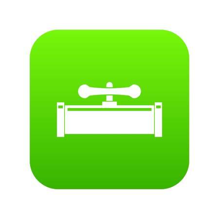 Plumbing valve icon digital green for any design isolated on white vector illustration Vector Illustration