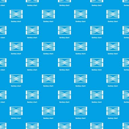 Sankey chart pattern vector seamless blue repeat for any use Çizim