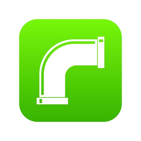 Water pipe icon digital green for any design isolated on white vector illustration