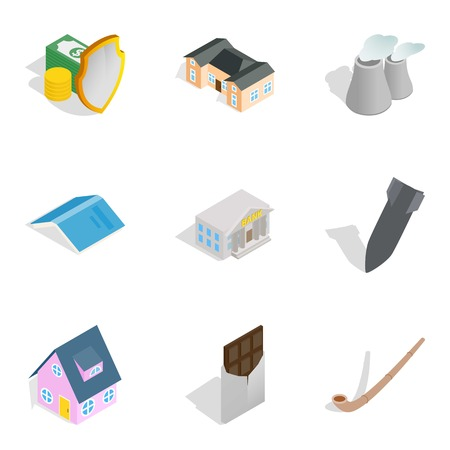 Fund available icons set. Isometric set of 9 fund available vector icons for web isolated on white background