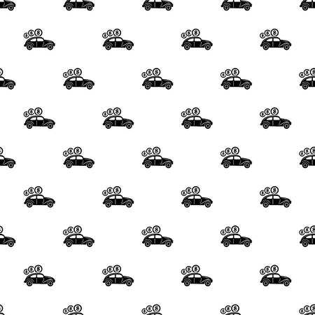 Car on credit pattern vector seamless repeating for any web design