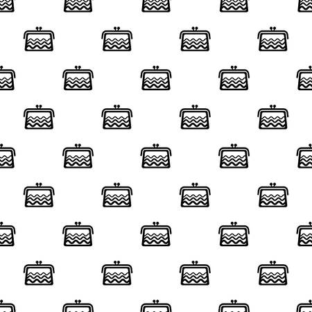 Wallet pattern vector seamless repeating for any web design