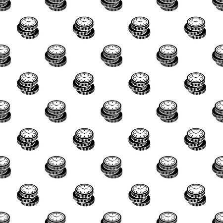 Coin pattern vector seamless repeating for any web design