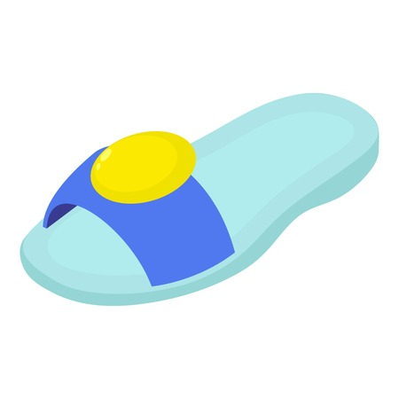 Beach sandal icon. Isometric illustration of beach sandal vector icon for web.