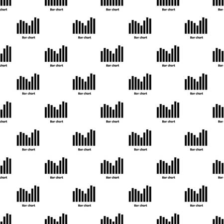 Bar chart pattern vector seamless repeating for any web design