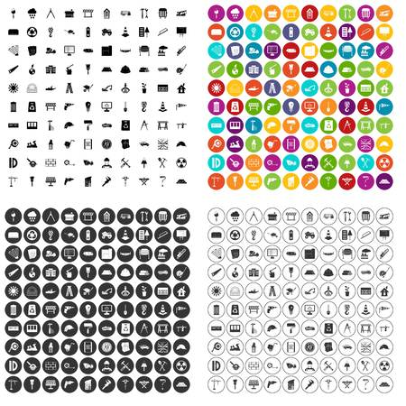 Construction site icons set vector in variant for any web design isolated on white  イラスト・ベクター素材