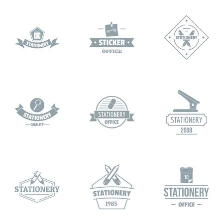 Office icon set. Simple set of 9 office vector icon for web isolated on white background