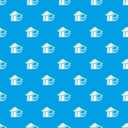 Insurance home pattern vector seamless
