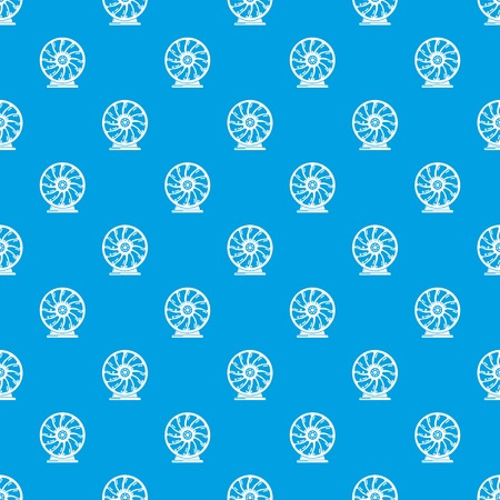 Perpetuum mobile pattern vector seamless blue repeat for any use Stock Illustratie