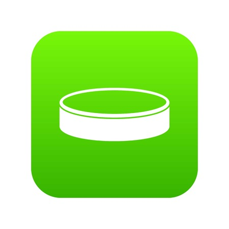Puck icon digital green for any design isolated on white vector illustration Illustration