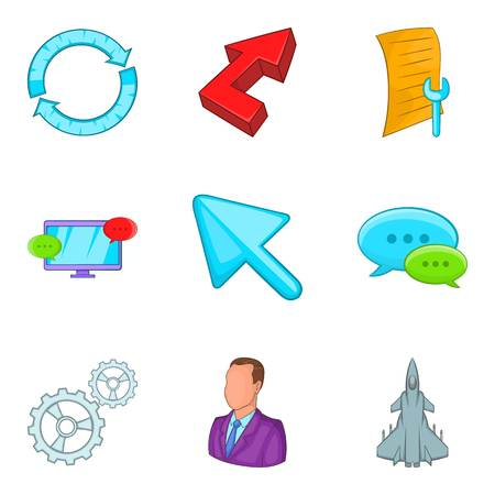 Annex icons set. Cartoon set of 9 annex vector icons for web isolated on white background