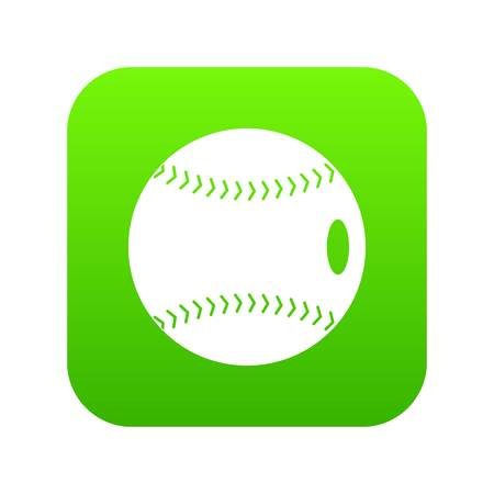 Baseball ball icon digital green for any design isolated on white vector illustration