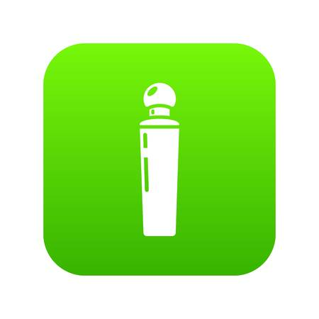 Perfume bottle tokyo icon green vector isolated on white background
