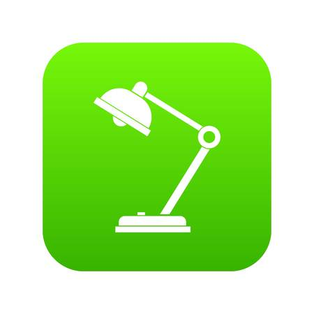 Desk lamp icon digital green for any design isolated on white vector illustration