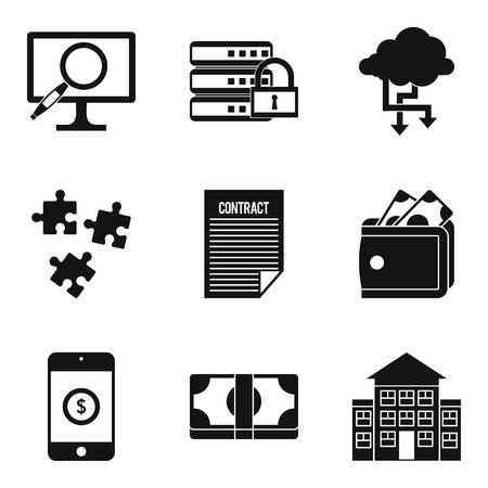 Computer expert icons set. Simple set of 9 computer expert vector icons for web isolated on white background