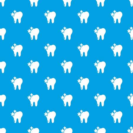 Tooth pattern vector seamless blue repeat for any use Çizim