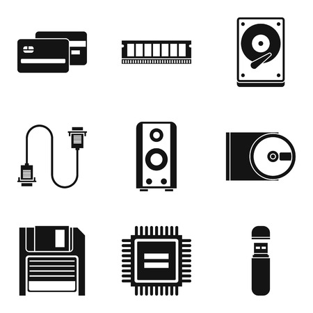 Expert icons set. Simple set of 9 expert vector icons for web isolated on white background 向量圖像