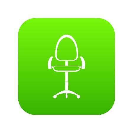 Modern office chair icon digital green for any design isolated on white vector illustration. Illustration