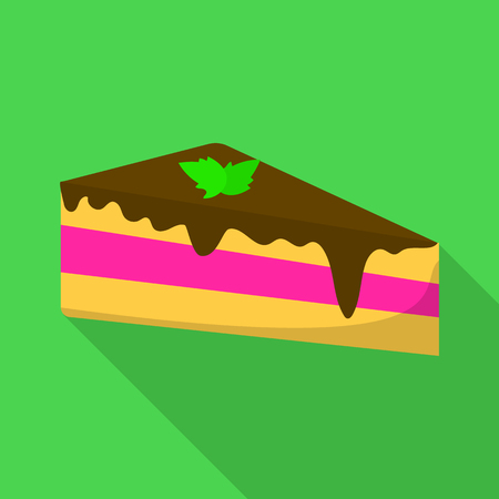 Cake icon. Flat illustration of cake vector icon for web
