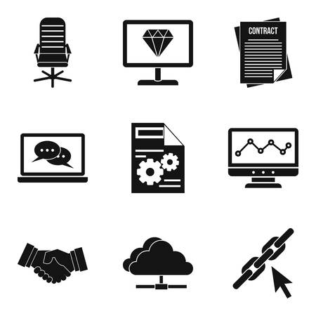 Highly qualified specialist icons set. Simple set of 9 highly qualified specialist vector icons for web isolated on white background. 向量圖像