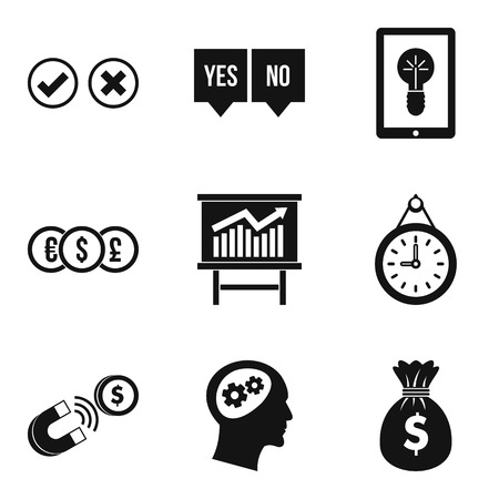 Qualified personnel icons set. Simple set of 9 qualified personnel vector icons for web isolated on white background.