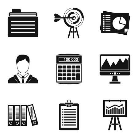 Dedicated computer icons set. Simple set of 9 dedicated computer vector icons for web isolated on white background. Çizim