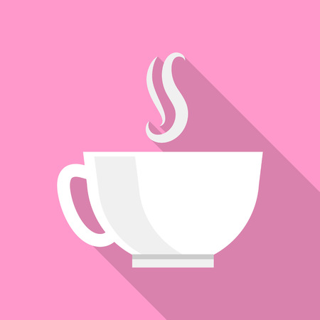 Cup of tea icon. Flat illustration of cup of tea vector icon for web