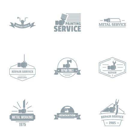 Painting services logo set. Simple set of 9 painting services vector logo for web isolated on white background