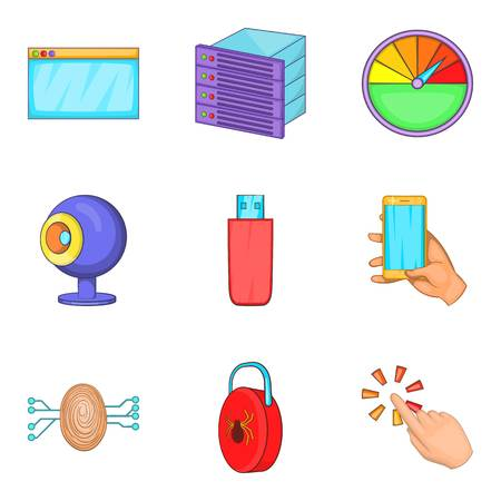 Dialog icons set. Cartoon set of 9 dialog vector icons for web isolated on white background