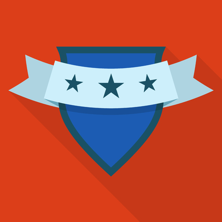 Shield icon. Flat illustration of shield vector icon for web