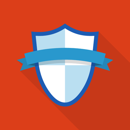 Privacy shield icon. Flat illustration of privacy shield vector icon for web