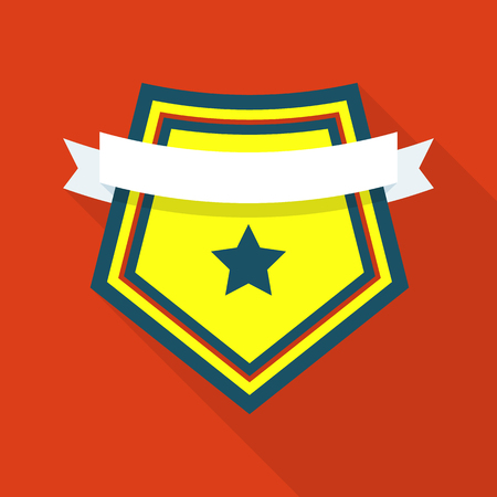 Famous shield icon. Flat illustration of famous shield vector icon for web