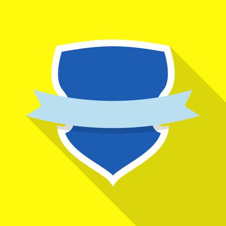 Status shield icon. Flat illustration of status shield vector icon for web