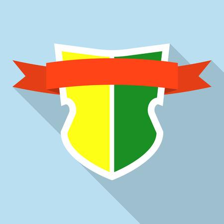Kingdom shield icon. Flat illustration of kingdom shield vector icon for web