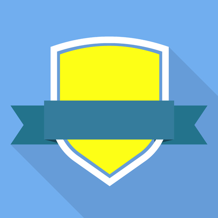 Safety shield icon. Flat illustration of safety shield vector icon for web Vettoriali
